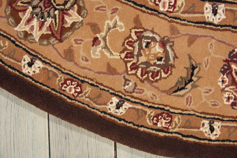 Nourison 2000 Traditional, Brown 8'0″ x 8'0″ Round 2206BRWNROUND