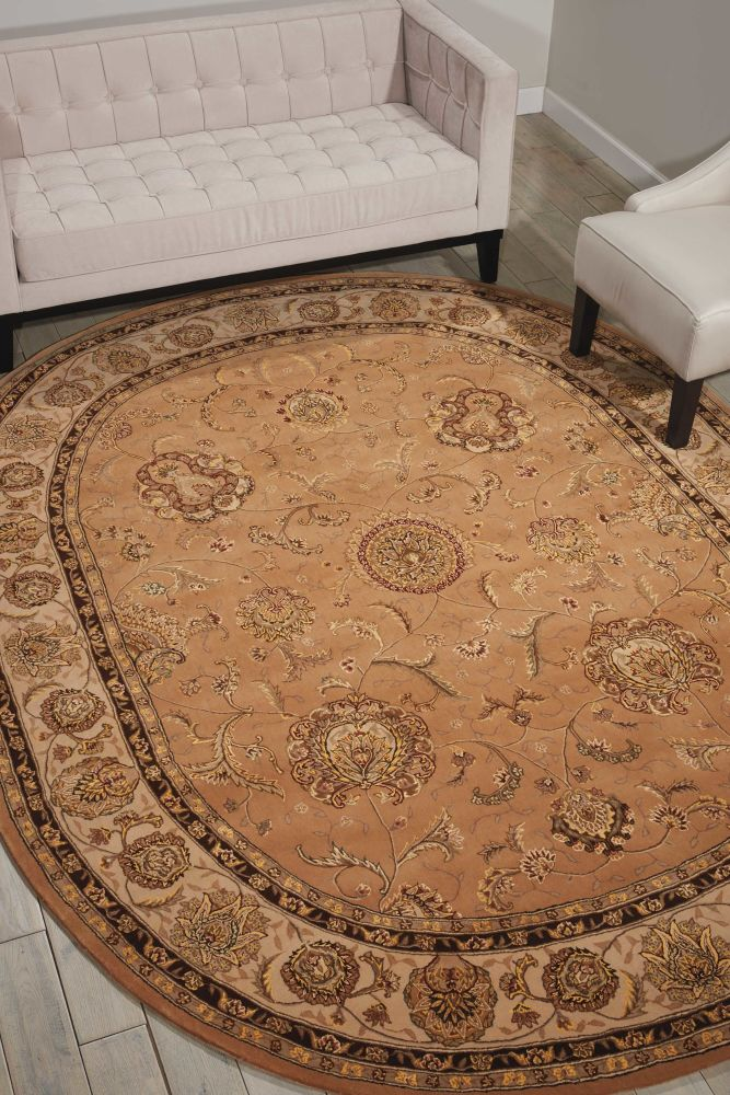 Nourison 2000 Traditional, Camel 7'6″ x 9'6″ Oval 2206CML6X9