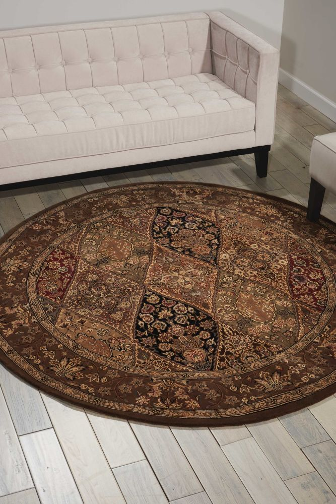 Nourison 2000 Traditional, Multicolor 8'0″ x 8'0″ Round 2292MLTCLRROUND