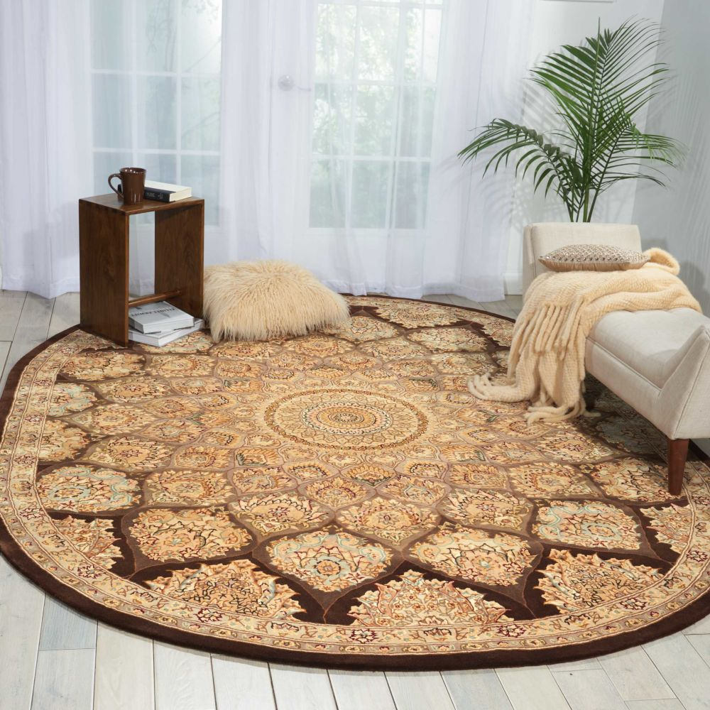 Nourison 2000 Traditional, Brown 7'6″ x 9'6″ Oval 2318BRWN6X9