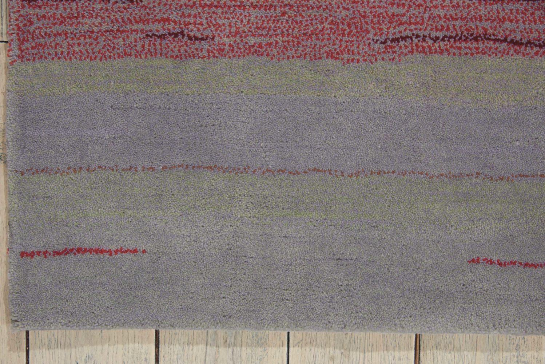 Nourison Contour Striped Flame 7'3″ x 9'3″ CON15FLM6X9
