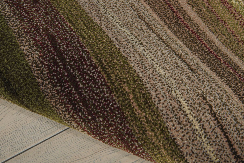 Nourison Contour Striped Forest 3'6″ x 5'6″ CON15FRST4X6