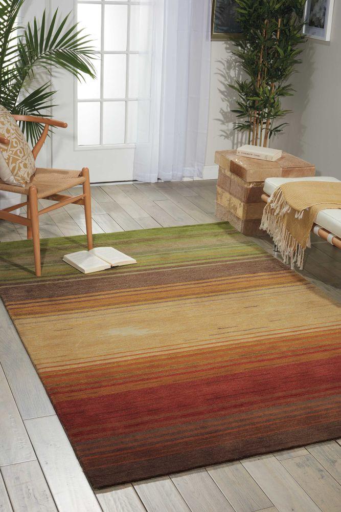 Nourison Contour Striped Harvest 3'6″ x 5'6″ CON15HRVST4X6