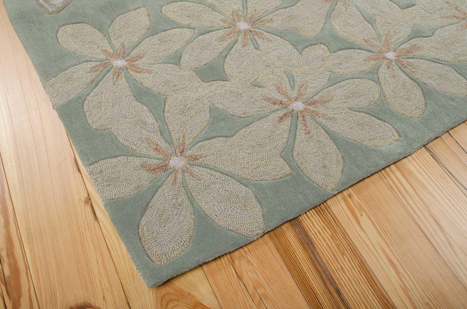 Nourison Contour Floral/Botanical, Sage 5'0″ x 7'6″ CON16SG5X8