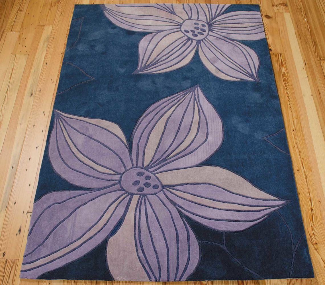 Nourison Contour Floral/Botanical, Blue 3'6″ x 5'6″ CON19BL4X6