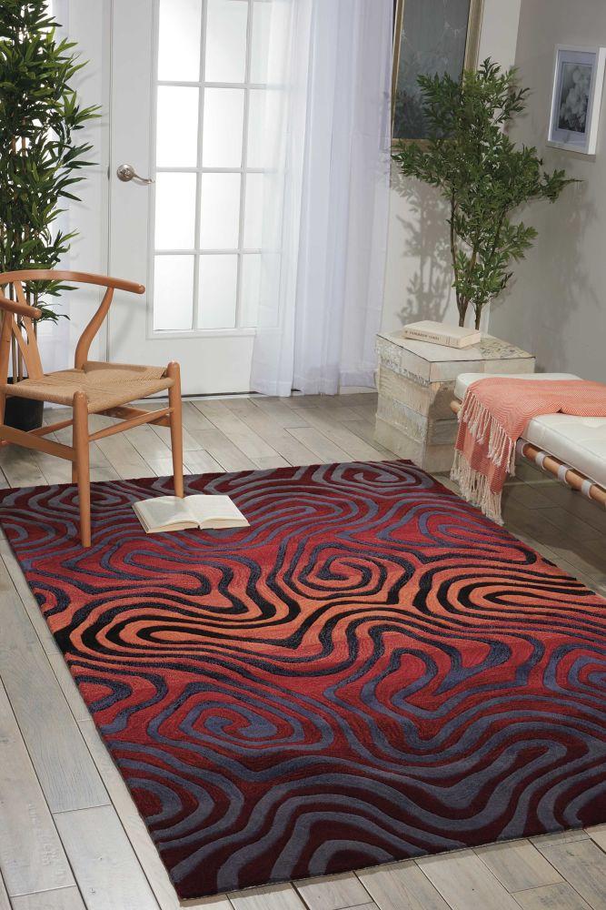 Nourison Contour Modern/Contemporary, Sangria 3'6″ x 5'6″ CON24SNGR4X6