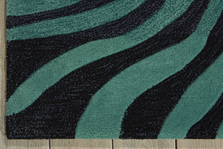 Nourison Contour Modern/Contemporary, Smoke Teal 3'6″ x 5'6″ CON24SMKTL4X6