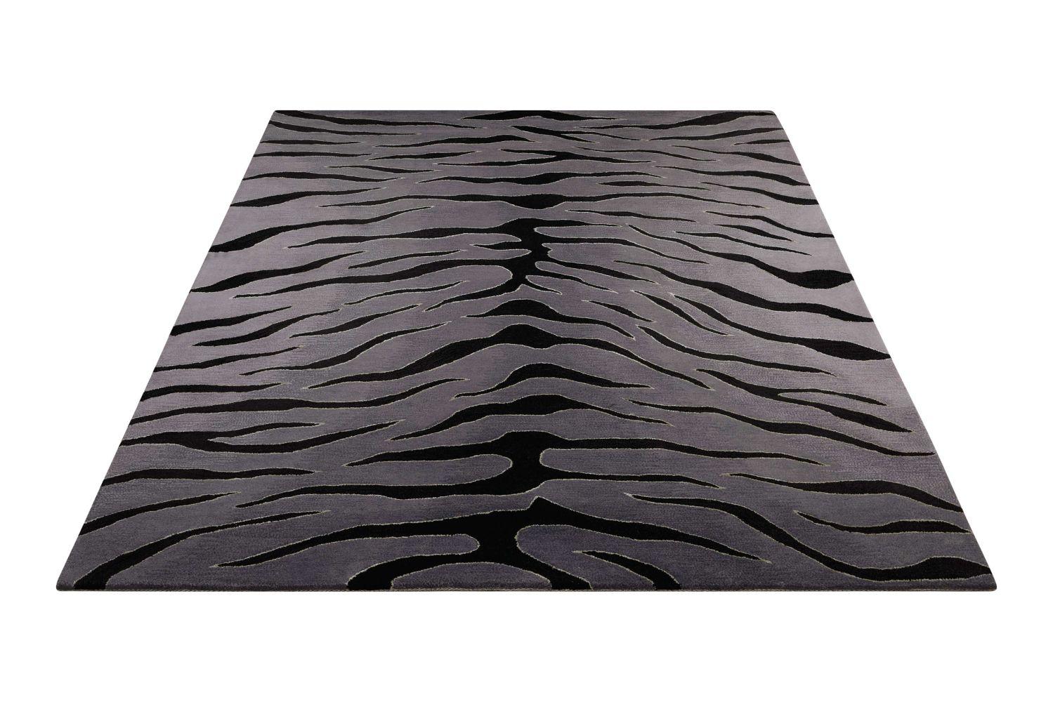 Nourison Contour Black/Grey 3'6″ x 5'6″ CON30BLCKGRY4X6