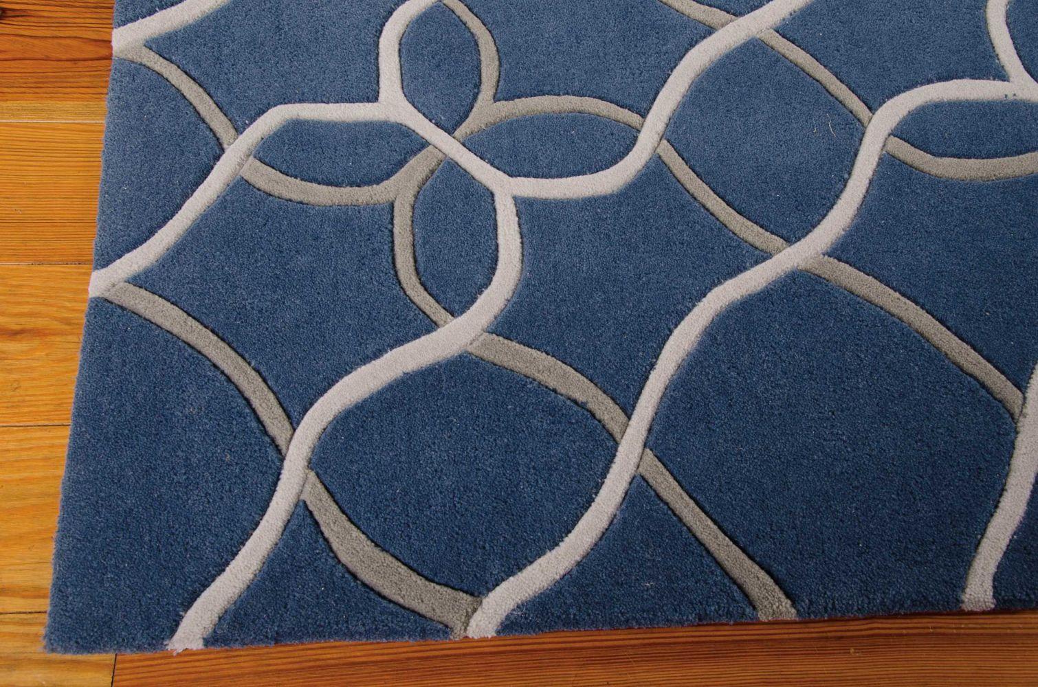 Nourison Contour Geometric, Modern/Contemporary, Denim 3'6″ x 5'6″ CON41DNM4X6