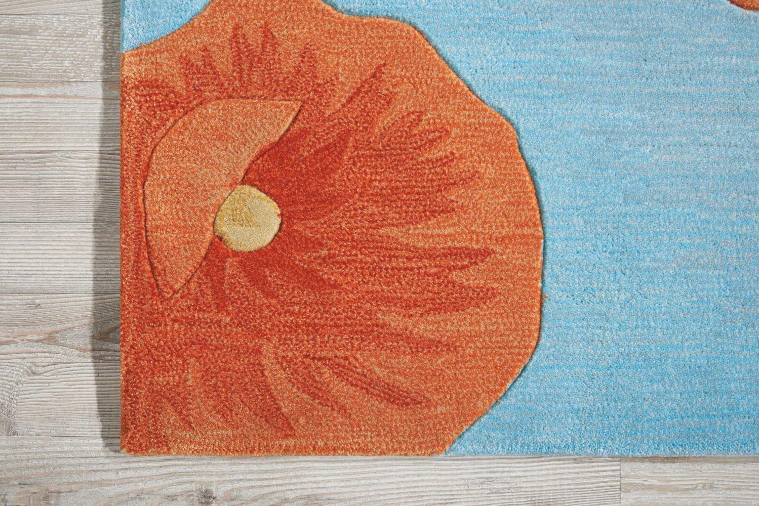 Nourison Contour Floral/Botanical, Blue 1'9″ x 2'9″ CON79BL3X5