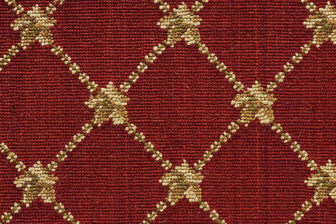 Luxe Pointe Nourison  Flower Trellis Lp03 Black Broadloom RED 1-LP03REDBR1302WV