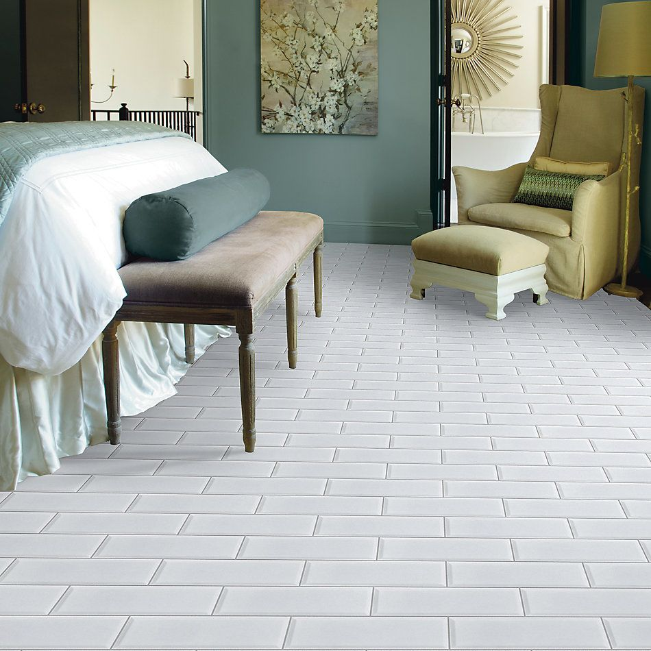Shaw Floors Ceramic Solutions Elegance 4×12 Beveled White 00100_218TS