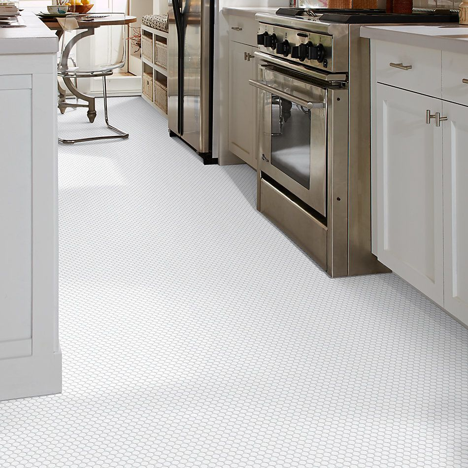 Shaw Floors Ceramic Solutions Coolidge Matte Penny Round White 00100_239TS