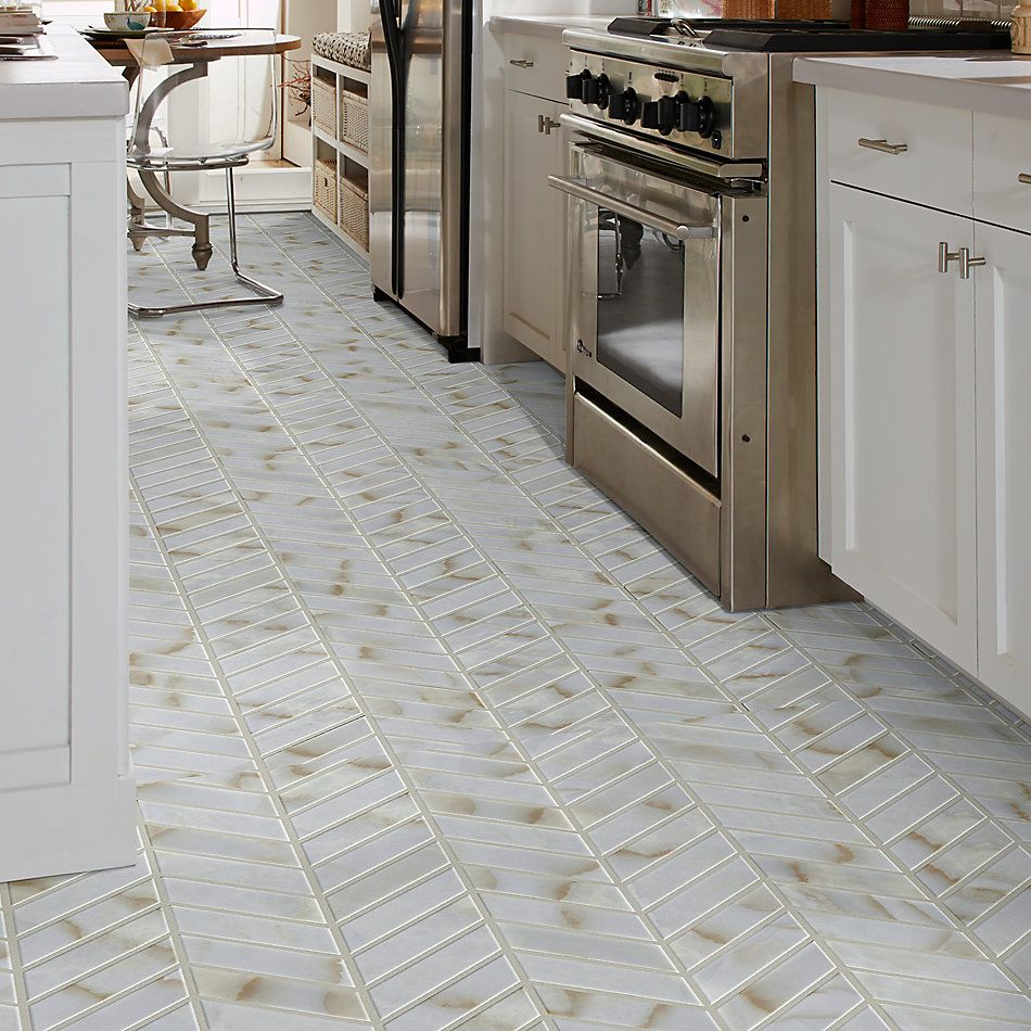 Shaw Floors Ceramic Solutions Gala Chevron Organza 00100_267TS