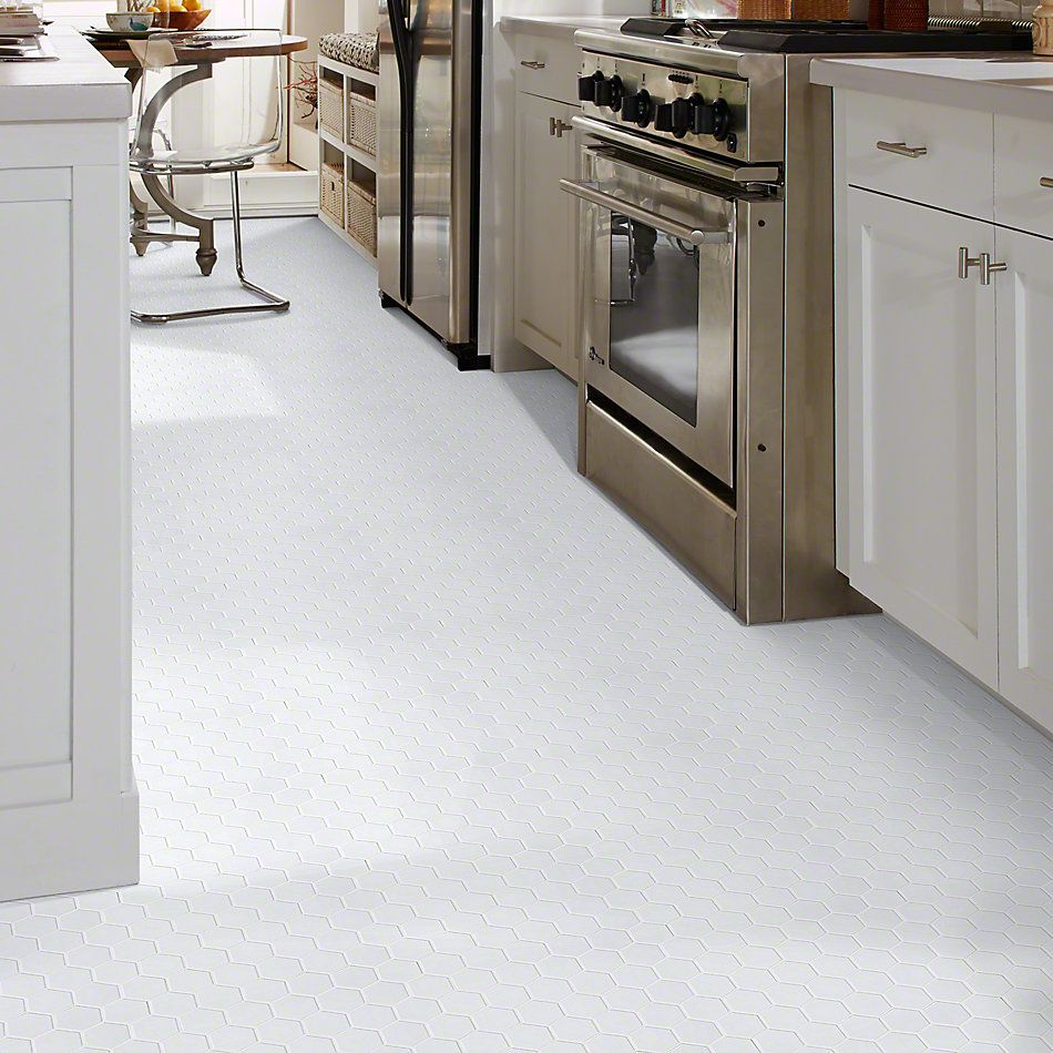 Shaw Floors Ceramic Solutions Elegance Hex 2″ Mosaics White 00100_CS01Z