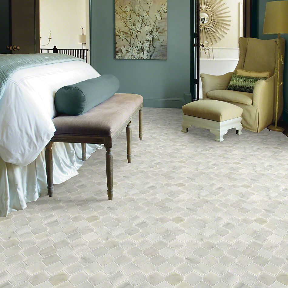 Shaw Floors Ceramic Solutions Boca Stretch Hex Whitewater 00100_CS26X