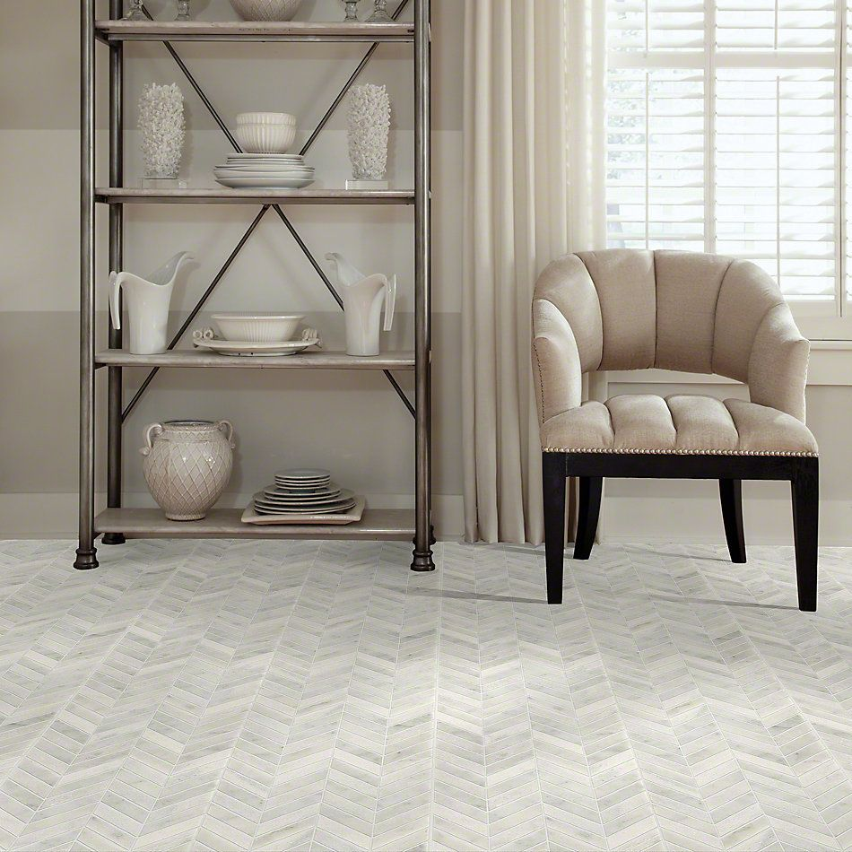Shaw Floors Ceramic Solutions Boca Chevron Whitewater 00100_CS29X