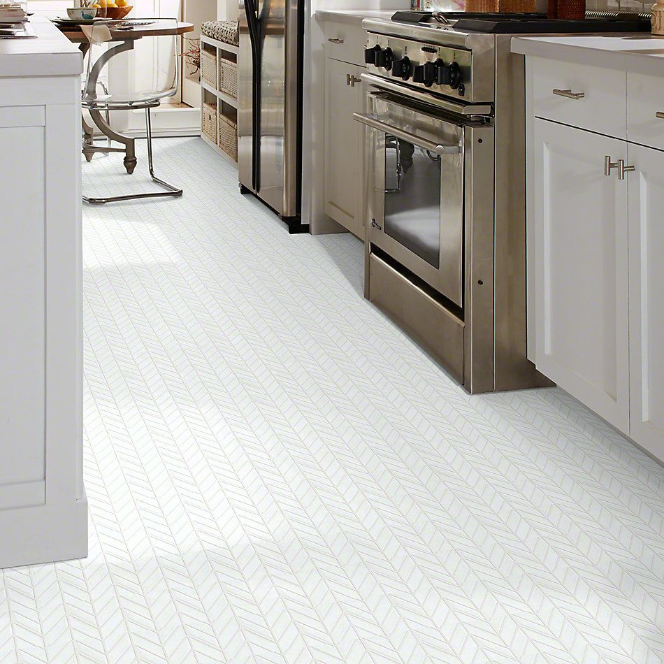 Shaw Floors Ceramic Solutions Geoscapes Chevron White 00100_CS46X