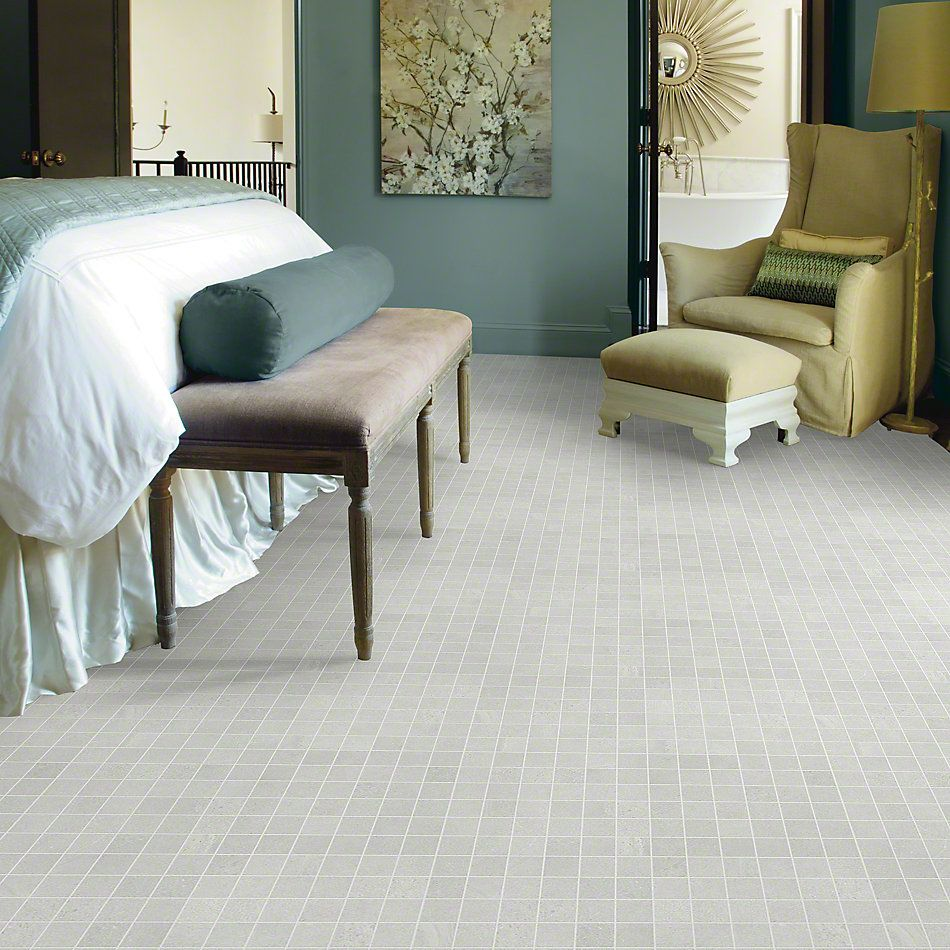 Shaw Floors Ceramic Solutions Sculpture Mosaic White 00100_CS98X