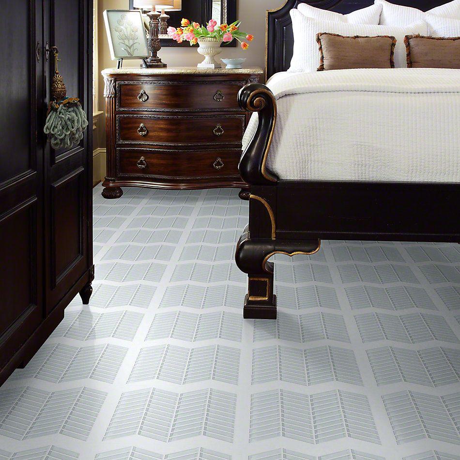 Shaw Floors SFA Paramount Chevron Glass Mosaic Ice 00100_SA16A