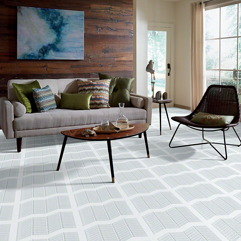 Shaw Floors SFA Paramount Chevron Glass Mosaic Ice 00100_SA16A