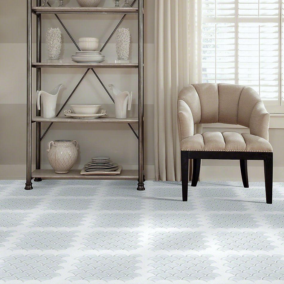 Shaw Floors SFA Paramount Fan Glass Mosaic Ice 00100_SA14A