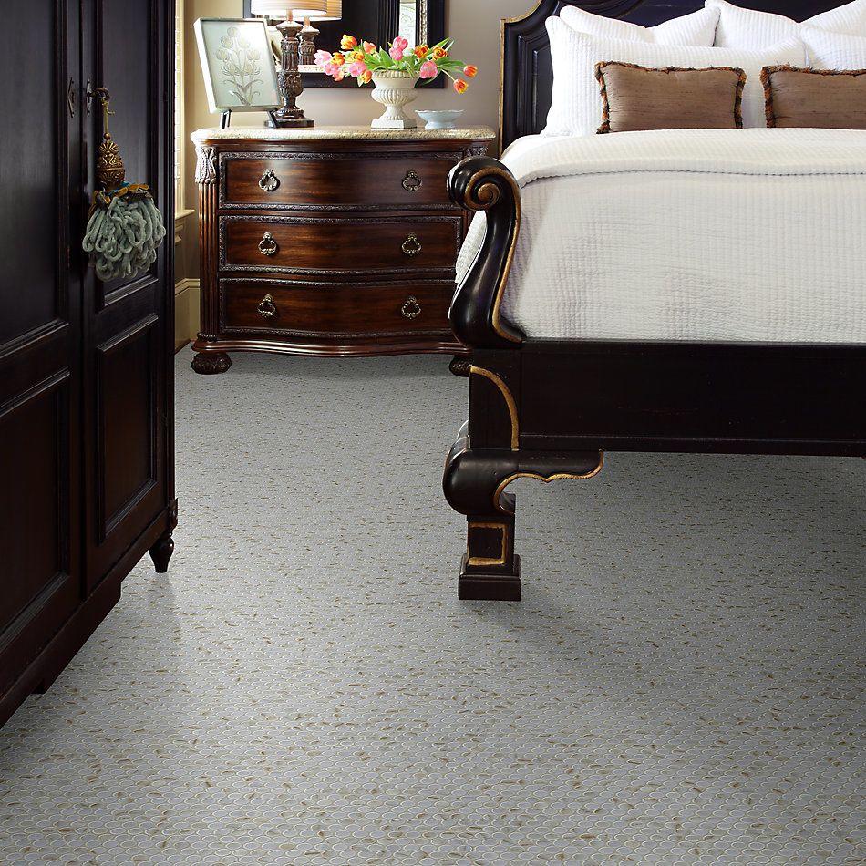 Shaw Floors Home Fn Gold Ceramic Affair Penny Round Organza 00100_TG13E