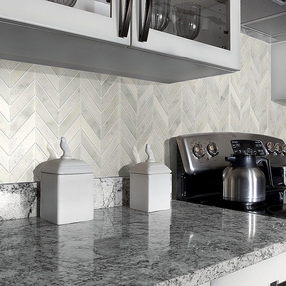 Shaw Floors Home Fn Gold Ceramic Del Ray Chevron Whitewater 00100_TG43C