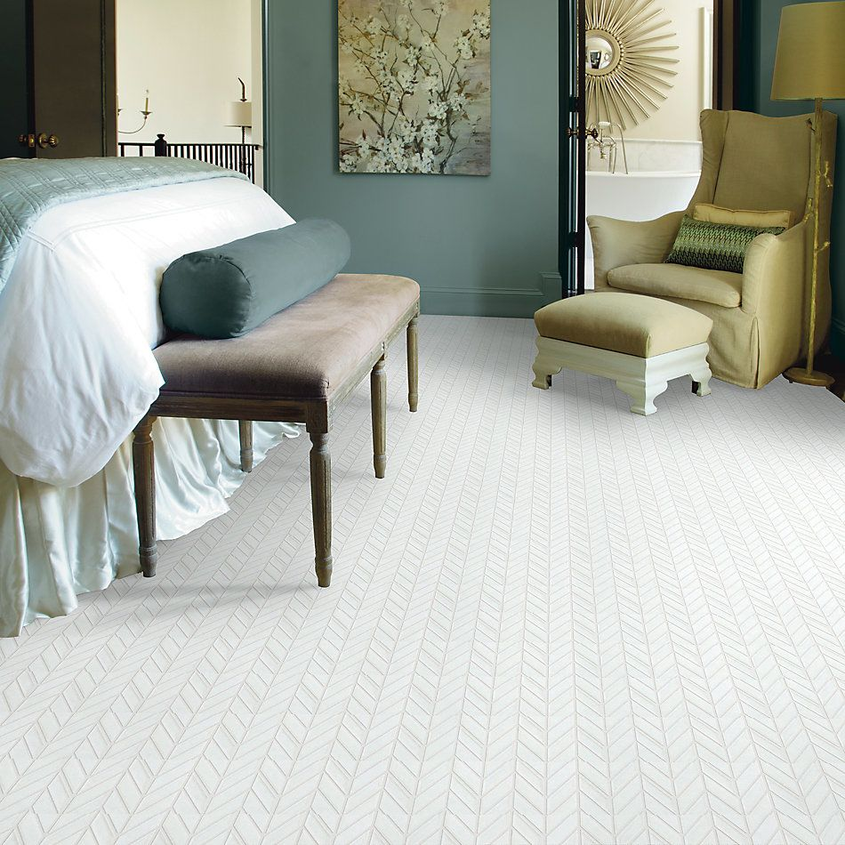 Shaw Floors Home Fn Gold Ceramic Geoscapes Chevron White 00100_TG46C