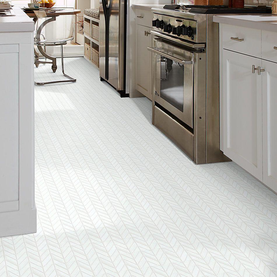 Shaw Floors Home Fn Gold Ceramic Geoscapes Chevron White 00100_TG46C