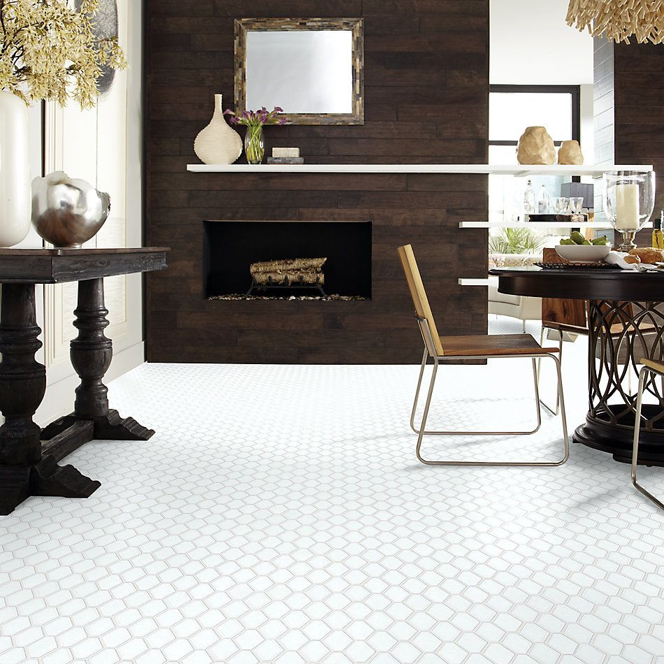 Shaw Floors Home Fn Gold Ceramic Geoscapes Diamond White 00100_TGJ79