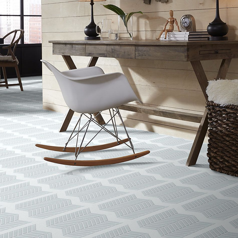 Shaw Floors Toll Brothers Ceramics Principal Chevron Glass Mo Ice 00100_TL78B