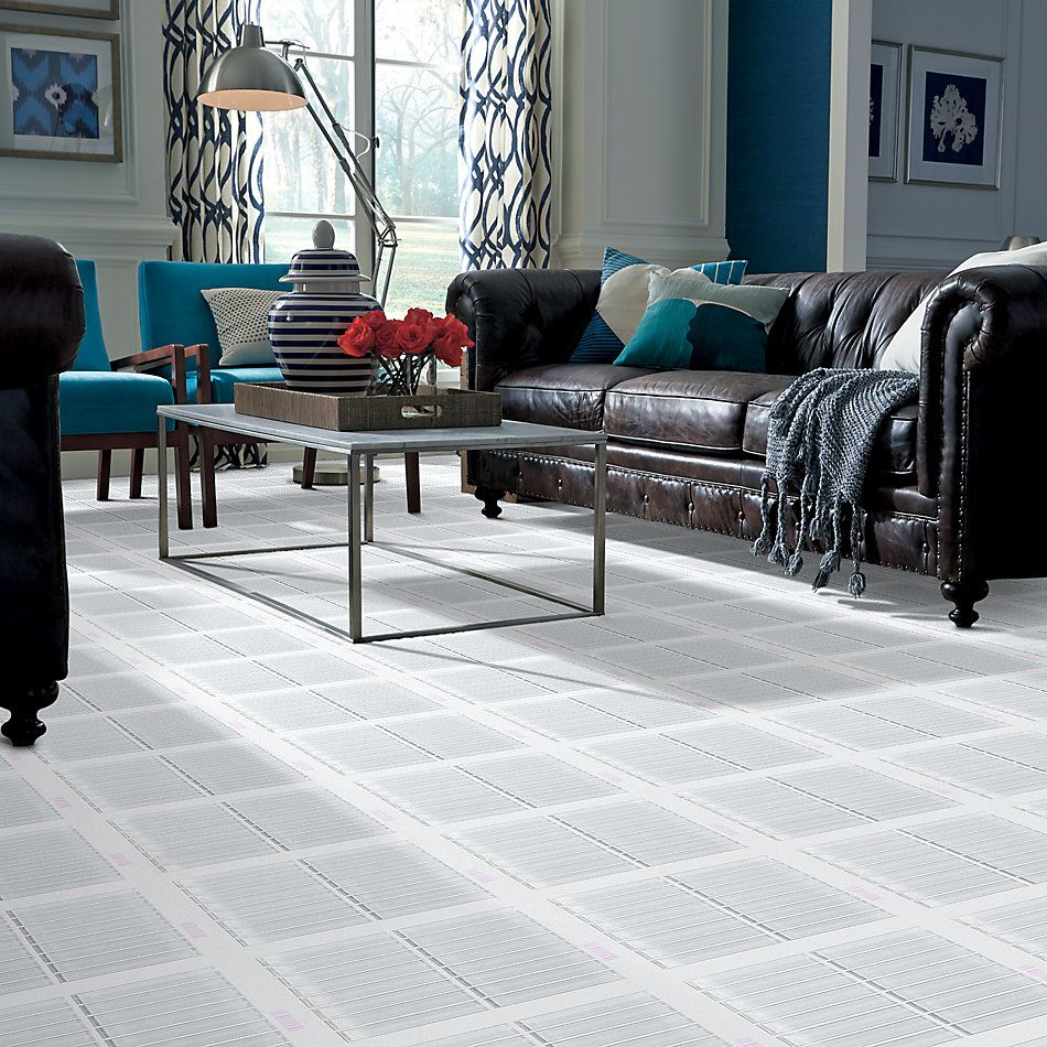 Shaw Floors Toll Brothers Ceramics Principal Stacked Glass Mosaic Ice 00100_TL83B