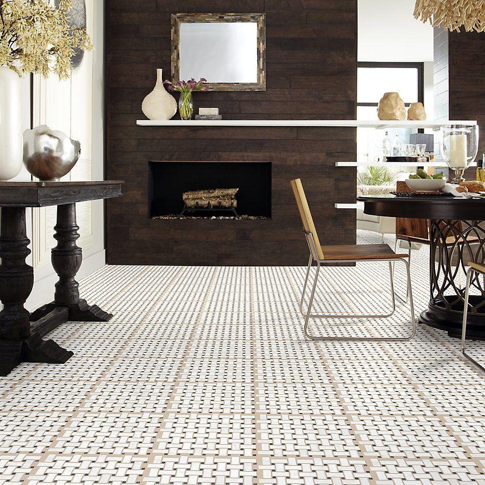 Shaw Floors Home Fn Gold Ceramic Del Ray Basketweave Mosaic Admiral 00111_TGL27