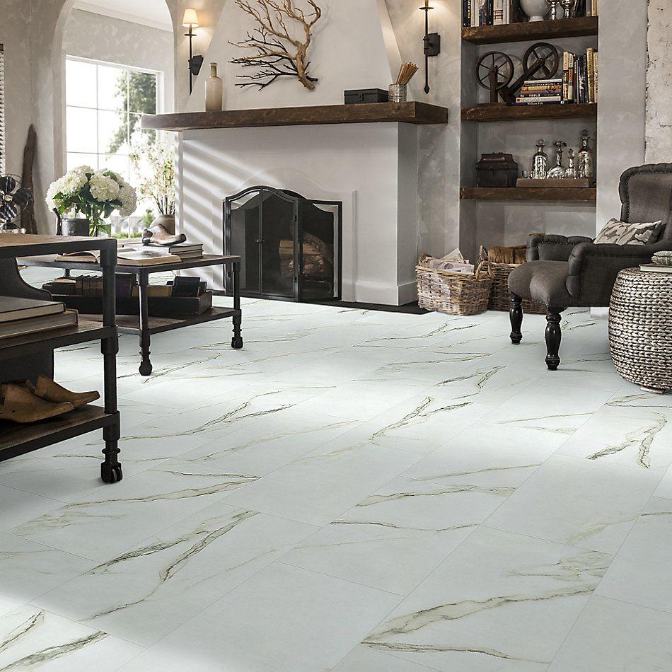 Shaw Floors Home Fn Gold Ceramic Stonehenge 12×24 Matte Calacatta 00121_TG46D