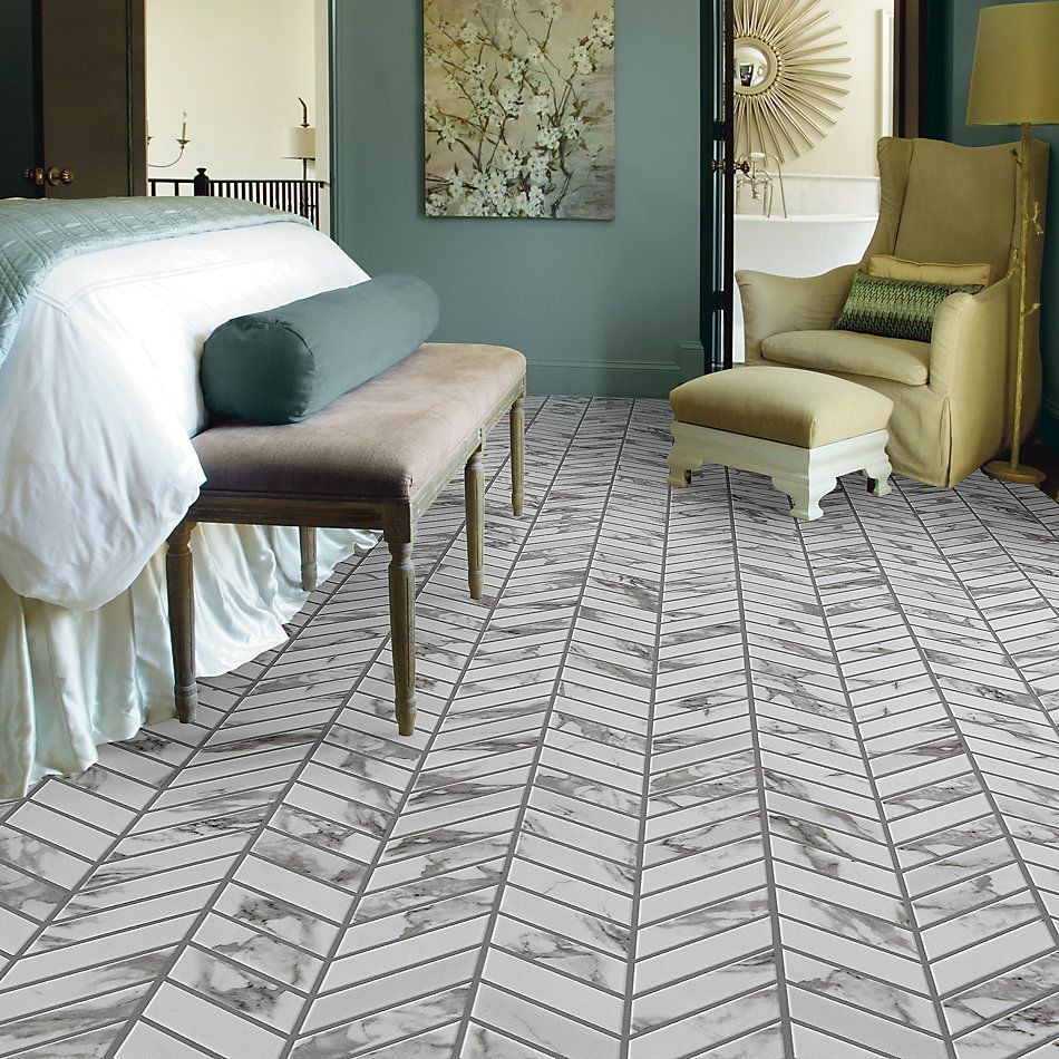 Shaw Floors Ceramic Solutions Gala Chevron Platinum 00150_267TS