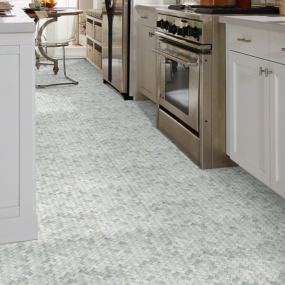 Shaw Floors Ceramic Solutions Chateau Woven Mosaic Bianco Carrara 00150_CS25X