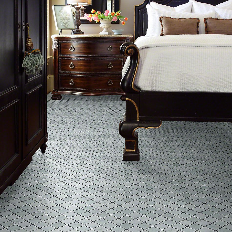 Shaw Floors Ceramic Solutions Chateau Lantern Mosaic Bianco Carrara 00150_CS55P