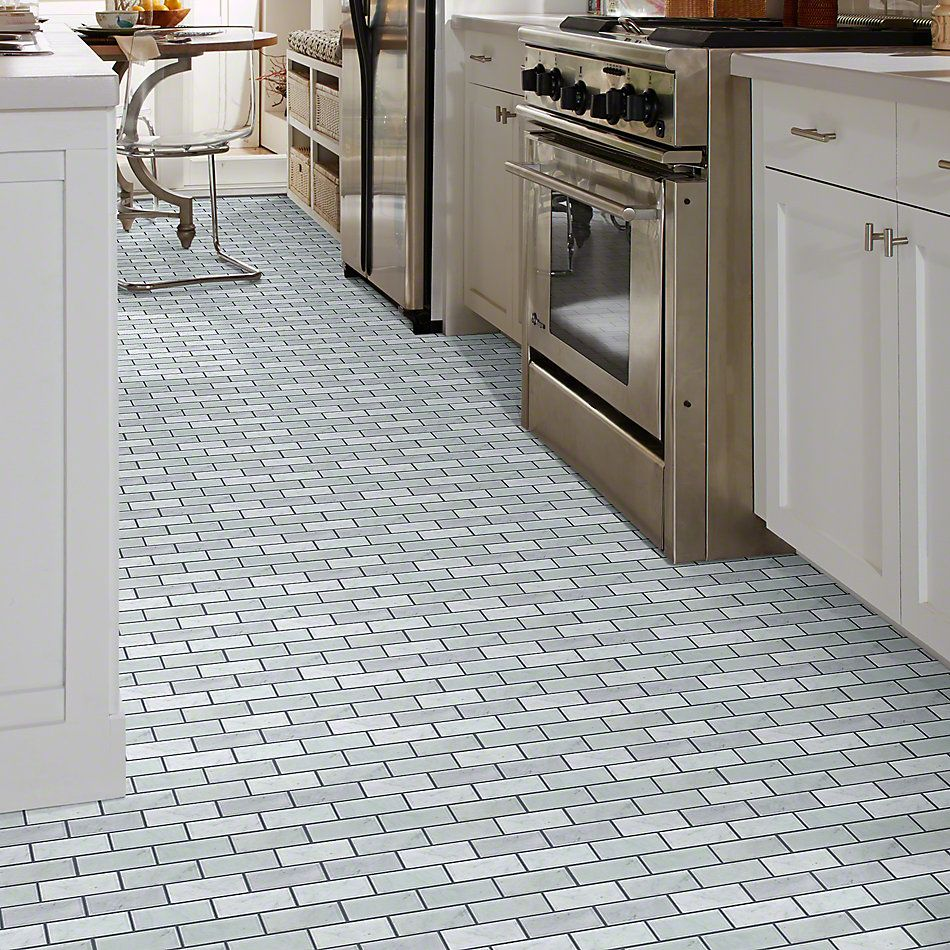 Shaw Floors Ceramic Solutions Chateau 2×4 Beveled Edge Mosai Bianco Carrara 00150_CS58P