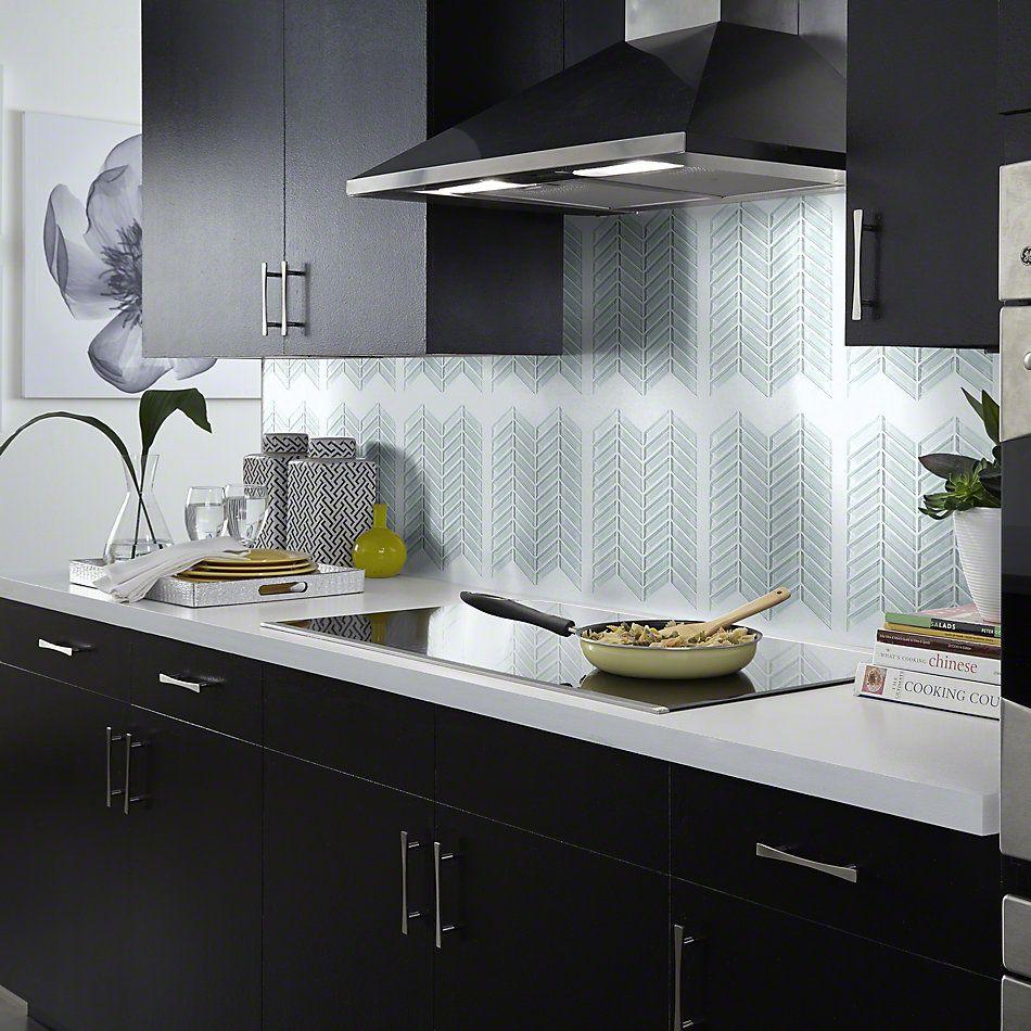 Shaw Floors SFA Paramount Chevron Glass Mosaic Skylight 00150_SA16A