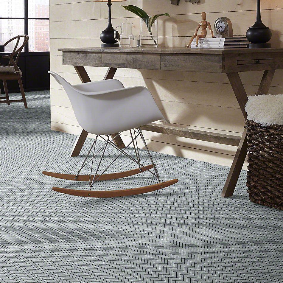 Shaw Floors SFA Pearl Herringbone Mosaic Bianco Carrara 00150_SA34A
