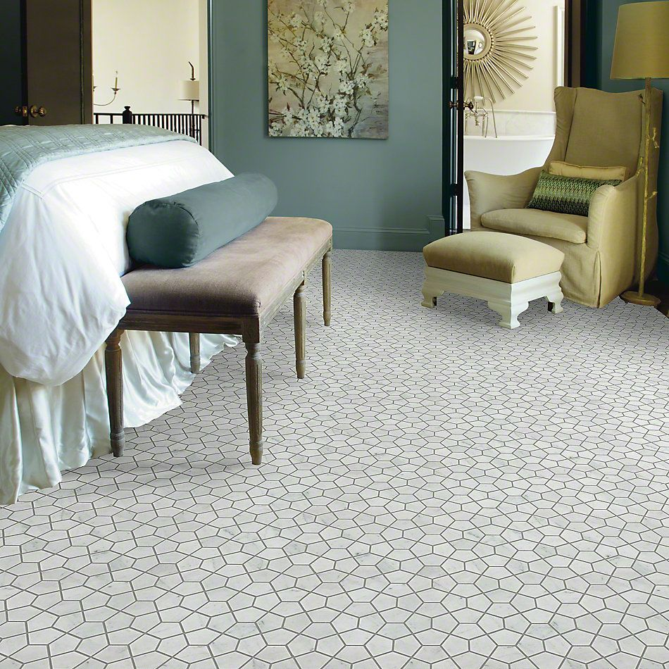 Shaw Floors Ceramic Solutions Chateau Pentagon Mosaic Bianco Carrara 00150_CS24X