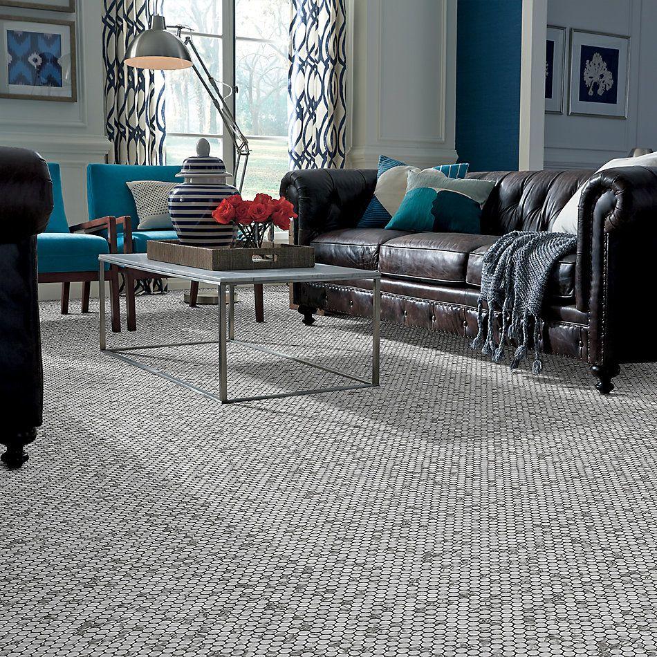 Shaw Floors Home Fn Gold Ceramic Affair Penny Round Platinum 00150_TG13E