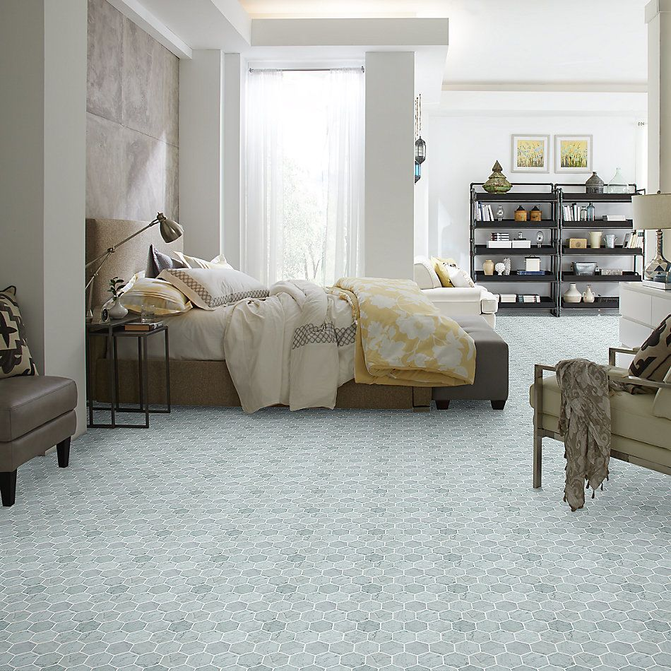 Shaw Floors Home Fn Gold Ceramic Estate Hexagon Mosaic Bianco Carrara 00150_TGN87