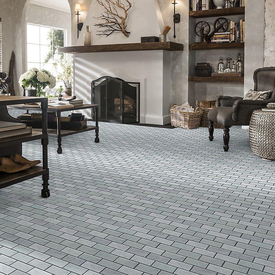 Shaw Floors Home Fn Gold Ceramic Estate 2×4 Beveled Edge Mosaic Bianco Carrara 00150_TGN89