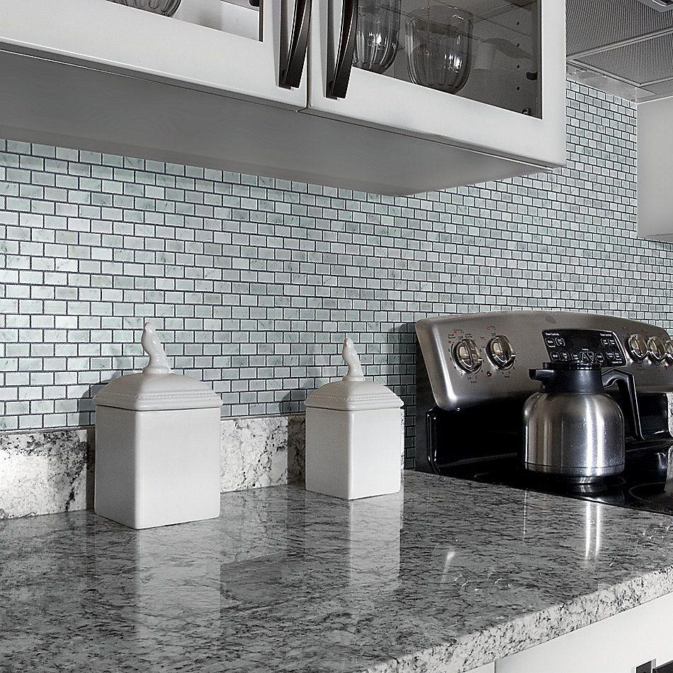 Shaw Floors Home Fn Gold Ceramic Estate Mini Brick Mosaic Bianco Carrara 00150_TGN90