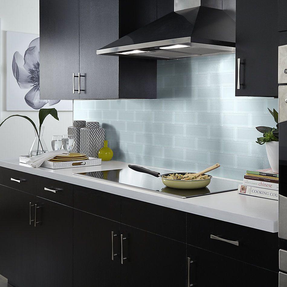 Shaw Floors Toll Brothers Ceramics Principal 3×9 Beveled Glass Ti Skylight 00150_TL75B