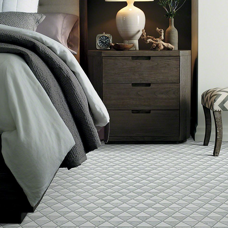 Shaw Floors Ceramic Solutions Chateau Tri Mix Thassos/Bianco Carrara 00151_CS23X