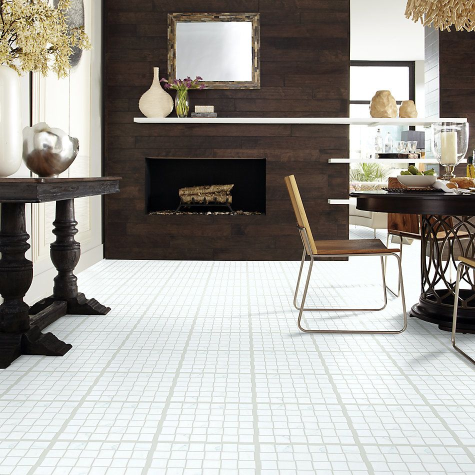 Shaw Floors Ceramic Solutions Casino Bw Mosaic Plsh Statuario 00151_CS91Z