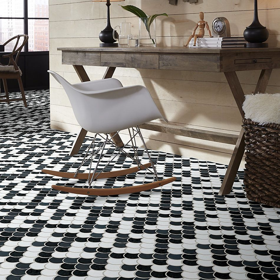 Shaw Floors Home Fn Gold Ceramic Geoscapes Fan Black/White 00151_TG86A